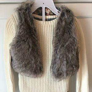 Cynthia Rowley Sweater & Skirt W/ Faux Fur Vest